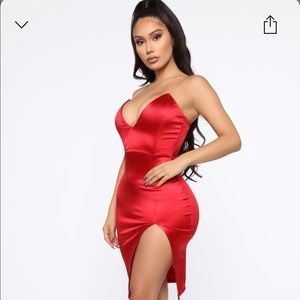 Don't Doubt Me Midi Dress - Red 🔥